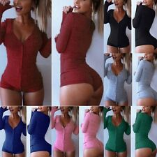 Women's Clothing Long Sleeve V-neck Pure Color Causal Mini Tight Mini Dress