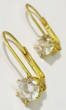 boucles d'oreilles percées dormeuse cristal diamant bijou couleur or * 4861
