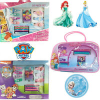 Kids Hair Clip Set Bag Bobbles Bands Sleepies Accessories Alice Frozen Princess