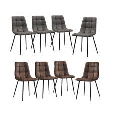2/4/6er Esszimmerstühle Kunstleder Esszimmerstuhl Küchen Wohnzimmer Stuhl Metall