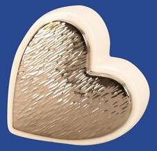 Deko Herz silber weiß Tischdeko Skulptur modern Trend Valentinstag Geschenk