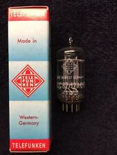 1 NOS Telefunken ECC82 12AU7 Smooth Plate Tube Germany <>