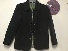 Ladies outerwear coat size small black thick lining front pockets Blassport 67