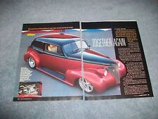 "1939 Chevrolet Master Deluxe Sedan Street Rod Article ""Together Again"""