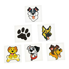 DOG and PUPPY Tattoos Temporary Tattoo Party Favours Pack of 36 Free Postage