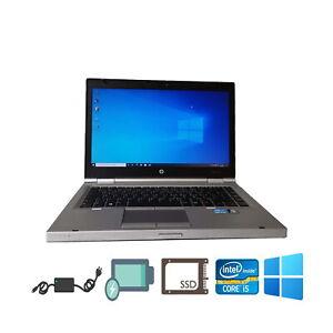 """HP Elitebook 8460p i5-2540M 14"""" 256GB-SSD 8GB-RAM WIN10PRO Akku NEU Laptop"""