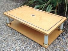 Vintage Coffee Table Late 20th Century Blonde Wood Superb Retro 80's Miami Chic