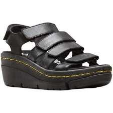 Sandali e scarpe nere Dr. Martens per il mare da donna 100% pelle
