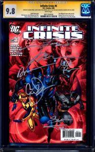 Infinite Crisis #5 CGC 9.8 signed x7 LEE JOHNS PEREZ JIMENEZ 1st BLUE BEETLE