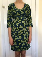 BODEN Women's Needlecord Cotton Dress Jade & Lime Size 6R Immaculate Condition