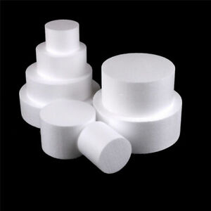 Round Styrofoam Foam Cake Dummy Modelling Sugarcraft Flower Wedding Decor