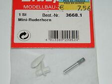 GRAUPNER 3668.1 GUIGNOLS de GOUVERNE MINI Ruderhörn Rudder CONTROL surface horns
