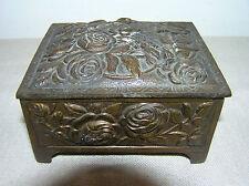 ANTIQUE FRENCH BRONZE JEWELRY BOX.