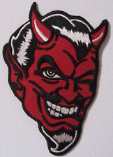 DEVIL PATCH - HORNS AND WINK - DEMON GUY - COOL PATCH - MOTORCYCLE VEST PATCH