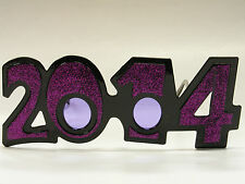 2014 PURPLE GLITTER GLASSES NEW YEARS HOLIDAY ACCESSORY ONE SIZE