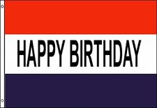 Happy Birthday Flag 3x5 ft Sign Red White Blue Stripes Party Decoration Banner