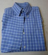Schickes DANIEL HECHTER Kurzarm  Hemd,  Baumwolle  blau-weiß kariert  Gr. KW 39
