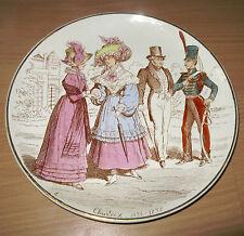 """Creil & Montereau Charles X 1824-1830 8"""" Plate La Mode Depuis Terre de Fer"""