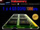 4GB DDR3 1066MHz 1066 LAPTOP RAM HP TOSHIBA DELL SONY