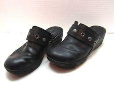 BOC Born Concept Black Leather Slip On Textured Heel Shoe Size 7M