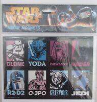 RETRO STAR WARS FRIDGE MAGNETS X 8 BRAND NEW GREAT GIFT YODA VADER R2-D2 JEDI