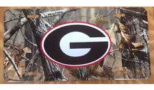 Georgia Bulldogs License Plate Metal Camo G Tag UGA