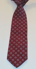BROOKS BROTHERS Red Geometric 100% Silk 59 Inches Long Men's Necktie