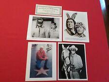 JOHN HART LONE RANGER & TONTO PHOTO & SIGNED COLOR HOLLYWOOD STAR PHOTO PLUS 2