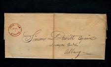 "1823 SARATOGA SPRINGS NY ""30"" 1pg Fort Covington  A M Hitchcock - Simeon De Witt"