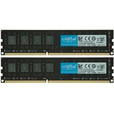CRUCIAL 16GB 2X8GB PC3L-12800U DDR3-1600MHZ 1.35V 240pin DIMM Desktop Memory Ram