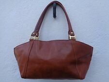 True vintage Valentina brown genuine leather handbag