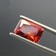 1x UNHEATED 5.02ct 8x10mm Red Orange OCTAGON Shape Loose GEMSTONES Jewelry Gift