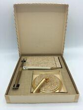 Park Sherman Desk Notepad Pen Holder 1950's Boxed Set/Mad Men-Mid Century Lucite
