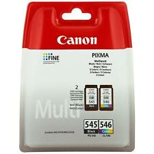 Genuine Canon PG545 Black & CL546 Colour Ink Cartridges PIXMA MG2550S MG2450
