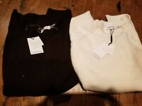 $18 CK SWEATER SALE Calvin Klein Womens Textured Pullover, Black or White SM LG
