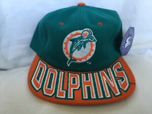 VTG STARTER  MIAMI DOLPHINS Flat Brim NFL Classic Team Collection Snapback  Hat