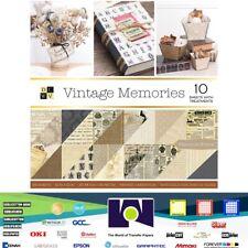 "DCWV®️ VINTAGE MEMORIES - GOLD FOIL - UV GLOSS  (36 SHEETS) 12X12""  PS-005-00640"