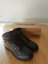 Reebok black leather Ex O Fit Hi high top men'swomen's