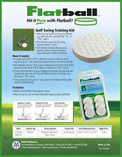 Flatball Golf Swing Training Aid - Six per pack - Hit it Pure with Flat Ball