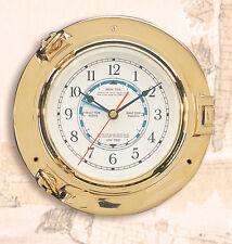 Brass Porthole Tide Clock
