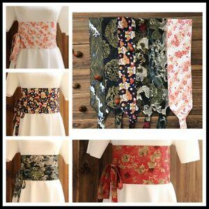Japanese Obi Belt Vintage Wide Corset Floral Yukata Sash Tie Waistband Retro