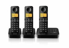 Philips D2053B/05 Cordless Trio Home House Phone Landline with Answering Machine