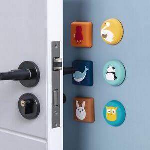 New Cartoon Door Lock Stopper Crash Wall Protector Rubber Fender Shockproof Pad✅