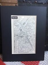 City Map of Ottawa Canada 1958 Mid Century Black Matted 8x10 Art Print travel