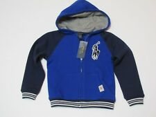 NWT Boy's Youth Polo Ralph Lauren Hoodie Full Zip BIG PONY Blue Size 4 $49.50