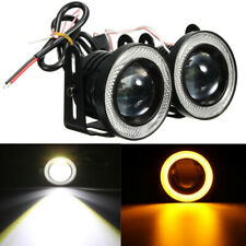 "2PCS 12V 3"" LED Fog Light Round Amber Angel Eye Halo Lamp For Cars SUV Universal"