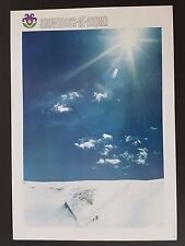 VINTAGE 1960s SNOWMASS ASPEN COLORADO SKI POSTER ORIGINAL SKIING SKIER SKIS 60's