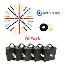 New 10 Pack Make Your Own Quartz Clock Kit School Club Project Art Craft Design