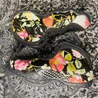 Nike Air Foamposite 1 One Floral Black AA3963-002 Women's 9 Men's 7.5