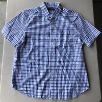 Men's Nautica Short Sleeve Plaid Button Down Shirt Pre-Owned Size L